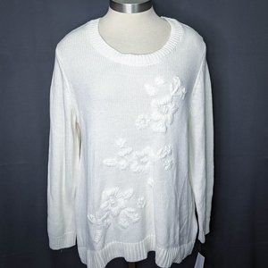 Style & Co Womens Sweater Plus 2X Off White